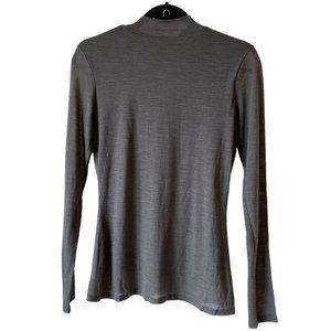 Hugo Boss Long Sleeve Shirt Mock Neck Gray Medium